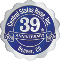 Central States Hose 39th anniversary seal
