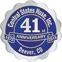 Central States Hose 41st anniversary seal