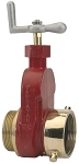 Hydrant Gate Valve brass 2.5 inch Female NST (NH) X 2.5 inch Male NST (NH)