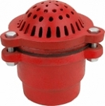 1.5 inch Pump Foot Valve Cast iron painted red