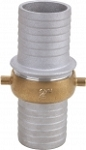 3 inch NPSM thread aluminum with brass nut short shank couplings - complete set