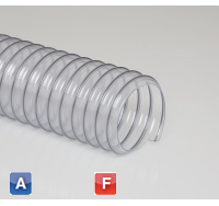 Flexadux PV R-2 Light weight PVC ducting hose for air, fumes or light dust