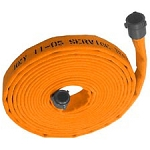Double jacket fire hose 1-1/2 inch x 50 feet coupled with M & F NST-NH couplings USA Assorted Colors Factory Made Assembly