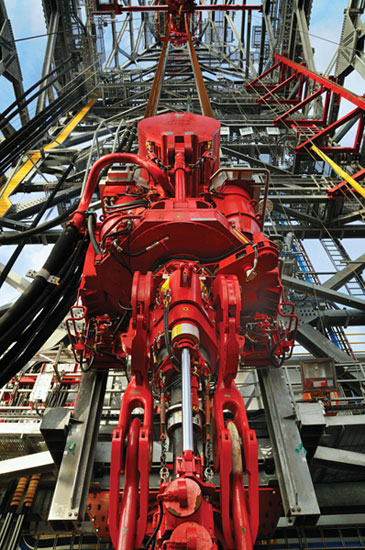 Top Drive Drilling Rig on Vacuum Hose Fittings