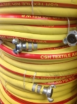 CSH Jackhammer Air Hose Assembly Yellow 3/4 inch X 50 Feet coupled with AM6 each end
