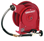 Reelcraft Compact Spring Retractable Hose Reel 3/8 x 35ft, 250 psi, for Hot Water Pre-Rinse with hose included