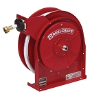 Reelcraft Compact Spring Retractable Hose Reel 1/2 x 35ft, 150 psi, for Potable Water - hose included
