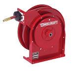 Reelcraft Compact Spring Retractable Hose Reel 1/2 x 25ft, 300 psi, for Air & Water service with hose included
