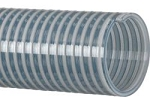 Clear PVC water suction hose assembly 1 inch I.D. X 25 Feet Long with Part C & E aluminum cam lock hose ends