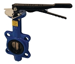 Butterfly Valve Wafer Style 2 inch size with stainless steel disc and BUNA-N seals