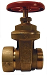 Hydrant Gate Valve brass 2-1/2 Female NST (NH) X 2-1/2 Male NST (NH) (UL Approved)