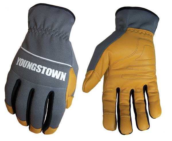 work gloves with leather palm