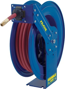 EZ-Coil SH series hose reel for DEF Diesel Exhaust Fluid with 3/4 inch X 25 Feet of DEF hose included
