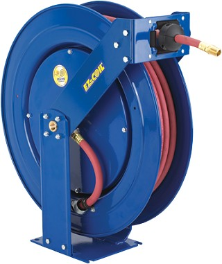Spring Rewind EZ-Coil hose reel for medium pressure hose 3/8 inch X 50 Feet 3000 PSI - hose not included
