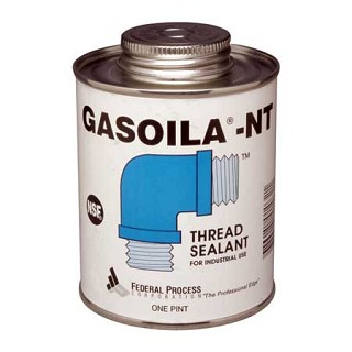 Gasoila NT Thread sealant for industrial use with brush in can - one pint NT16