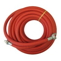Continental Jackhammer air hose assembly (yellow) 3/4 inch X 50 Feet 300 PSI with crimped on Universal couplings