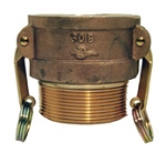 Brass Part B Cam-Lock Coupler X Male NPT Fitting