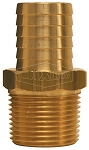 Brass hose end - 1/4 inch hose barb X 1/4 M-NPT - low pressure BN22