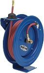 Cox Reels Aluminum hose reel with spring rewind and 3/8 inch X 50 Feet of 300 PSI air hose included
