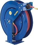 Spring Rewind EZ-Coil hose reel for High Pressure Grease hose 1/4 inch X 75 Feet 5000 PSI - with hose included (SAE 100R16)