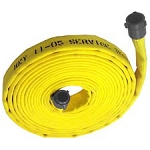 Double jacket fire hose 2-1/2 inch x 50 feet coupled with M & F NST-NH couplings USA Assorted colors factory made assembly