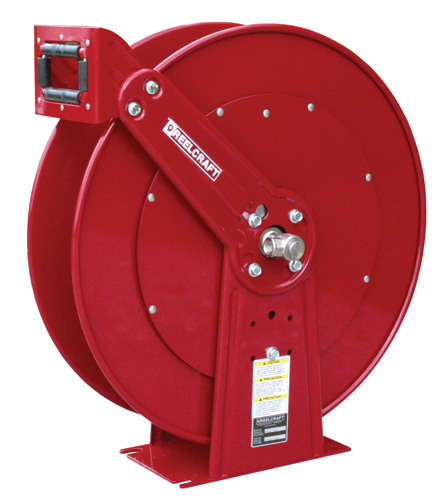 low pressure hose reel for fuel oil air or water 34 inch x 75 feet spring retractable