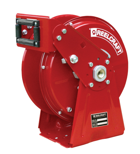 Reelcraft Heavy Duty Spring Retractable Hose Reel 3/8 x 50ft, 500 psi