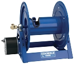 1125 Series hose reel with air motor (b) for 1/2 inch I.D. (7/8 O.D.) X 100 feet 3000 PSI max. pressure hose capacity