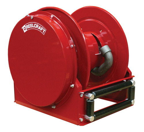inch X 50 Feet Low profile hose reel for air, water, fuel or oil