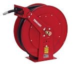 Reelcraft Dual Pedestal Spring Retractable Hose Reel 3/4 x 50ft, 50 psi, for use with Fuel - hose included