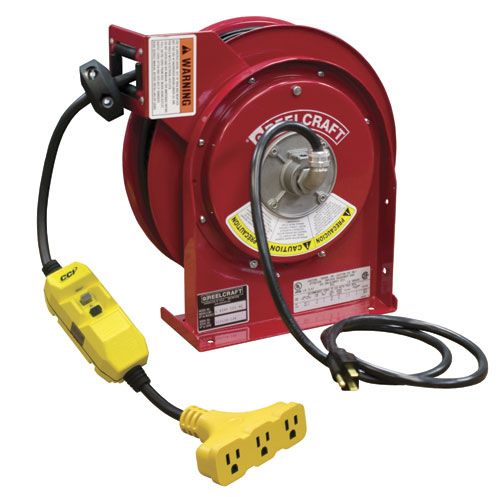 Cable Reel With 45 Feet Of 12awg 15 Amp Power Cord And