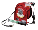 Reelcraft Retractable Cord Reel 16 AWG / 3 Cond  x 50ft, 13 AMP, LED Light, With Cord