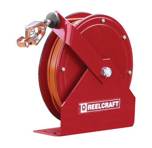 Reelcraft Static Grounding Reel 100ft, Grounding With Nylon Coated