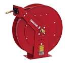 Reelcraft Dual Pedestal Spring Retractable Hose Reel 3/4 x 50ft, 250 psi, for Air & Water service with hose included