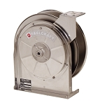 Reelcraft Spring Retractable Hose Reel 3/8 x 35ft, 500 psi, Stainless Steel for Air & Water service - hose not included