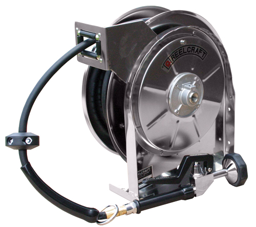 Retractable Water Hose Reel 3/8 x 35ft, 250 psi, with hose and nozzle