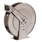 Reelcraft Spring Retractable Hose Reel 1/2 x 100ft, 500 psi, Stainless Steel for Air & Water service - hose not included