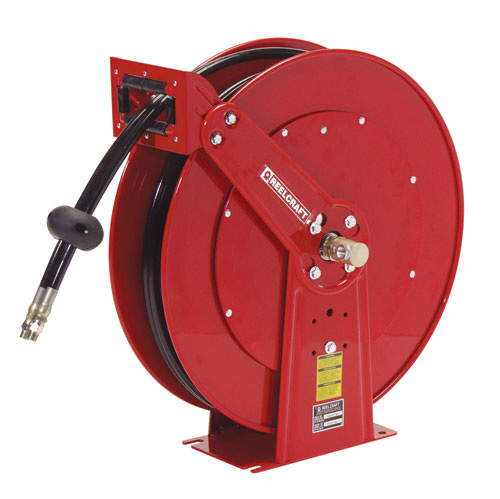 hose reel for 1/2 inch X 50 Feet dual hose - spring retractable
