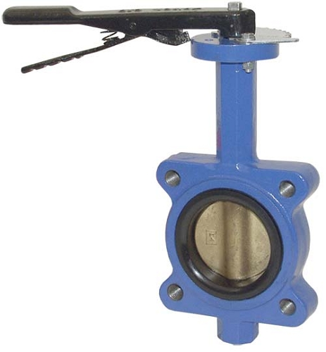 Ductile iron butterfly valves threaded lug style inch