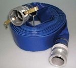 1.5 inch x 50FT Blue PVC Water Discharge hose with C&E Aluminum Cam-lock Hose Ends