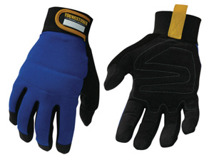 work gloves with synthetic suede
