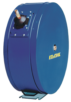Spring Rewind EZ-Coil Enclosed hose reel for Air or Water with 1/2 inch X 50 Feet 300 PSI hose included