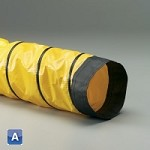 18 inch I.D. Spring Flex FSP-5 yellow 1-ply pvc coated polyester with black wearstrip ducting hose X 25 Feet (per foot)
