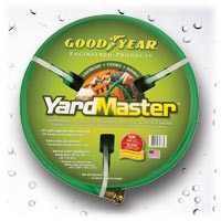 Continental Yardmaster green garden hose 5/8 inch X 50 Feet with M&F GHT brass hose ends