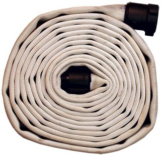 MSHA Approved Mine Fire Hose 500# Single Jacket 1-1/2 inch X 50 feet with M & F NST (NH) hose ends