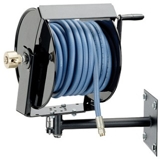 Swivel Mount Hand Crank Hose Reel For 1 2 Inch I D X 125