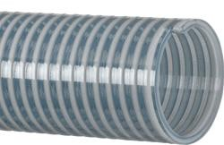 Clear PVC water suction hose assembly 3 inch I.D. X 25 Feet Long with Part C & E aluminum cam lock hose ends